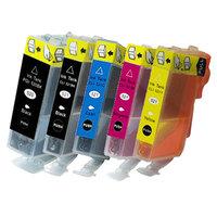 Canon PGI-520 / CLI-521 set van VIJF inktcartridges (huismerk met chip)