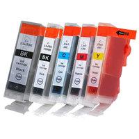 Canon PGI-5 / CLI-8 set van VIJF inktcartridges (huismerk met chip)