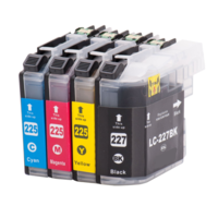 Brother LC-227XL / LC-225XL set inktcartridges (huismerk met chip)