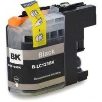 Brother LC-121BK / LC-123BK inktcartridge zwart (huismerk met chip)