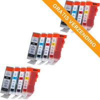 3 sets Canon PGI-5 / CLI-8 set van VIER inktcartridges (huismerk met chip)