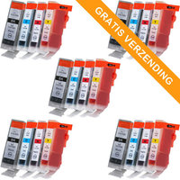 5 sets Canon PGI-5 / CLI-8 set van VIER inktcartridges (huismerk met chip)