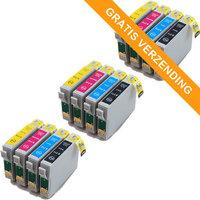 3 sets Epson T0715 inktcartridges (huismerk)