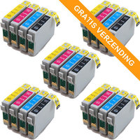 5 sets Epson T0715 inktcartridges (huismerk)