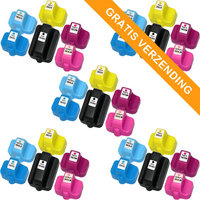 5 sets HP 363 inktcartridges (huismerk)