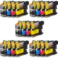 5 sets Brother LC-121 / LC-123 inktcartridges (huismerk met chip)