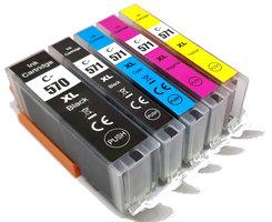 Canon PGI-570XL / CLI-571XL set van VIJF inktcartridges (huismerk)