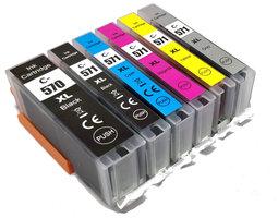 Canon PGI-570XL / CLI-571XL set van ZES inktcartridges (huismerk)