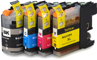 Brother LC-127XL / LC-125XL set inktcartridges (huismerk met chip)