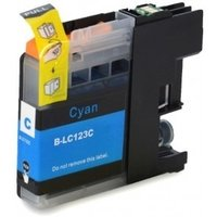 Brother LC-121C / LC-123C inktcartridge cyaan (huismerk met chip)