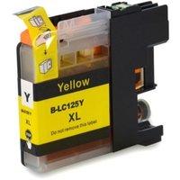Brother LC-125XL Y inktcartridge geel hoge capaciteit (huismerk met chip)