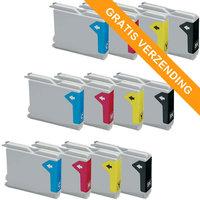 3 sets Brother LC-970 / LC-1000 inktcartridges (huismerk)