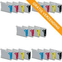 5 sets Brother LC-970 / LC-1000 inktcartridges (huismerk)