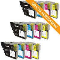 3 sets Brother LC-985 inktcartridges (huismerk)