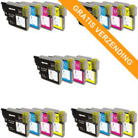 5 sets Brother LC-985 inktcartridges (huismerk)