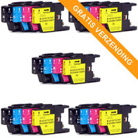 5 sets Brother LC-1220 / LC-1240 inktcartridges (huismerk)