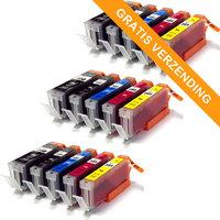 3 sets Canon PGI-550XL / CLI-551XL set van VIJF inktcartridges (huismerk)