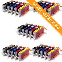5 sets Canon PGI-550XL / CLI-551XL set van VIJF inktcartridges (huismerk)