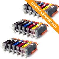3 sets Canon PGI-550XL / CLI-551XL set van ZES inktcartridges (huismerk)