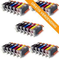 5 sets Canon PGI-550XL / CLI-551XL set van ZES inktcartridges (huismerk)