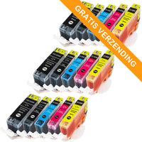 3 sets Canon PGI-525 / CLI-526 set van VIJF inktcartridges (huismerk met chip)