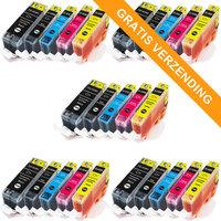 5 sets Canon PGI-525 / CLI-526 set van VIJF inktcartridges (huismerk met chip)