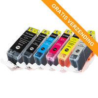 Canon PGI-525 / CLI-526 set van ZES inktcartridges (huismerk met chip)