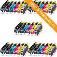 5 sets Canon PGI-525 / CLI-526 set van ZES inktcartridges (huismerk met chip)