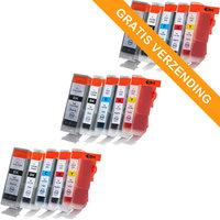 3 sets Canon PGI-5 / CLI-8 set van VIJF inktcartridges (huismerk met chip)