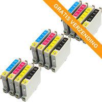 3 sets Epson T0615 inktcartridges (huismerk)
