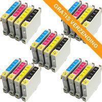 5 sets Epson T0615 inktcartridges (huismerk)