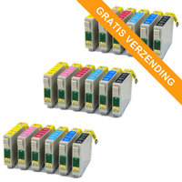 3 sets Epson T0807 inktcartridges (huismerk)
