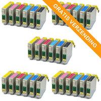5 sets Epson T0807 inktcartridges (huismerk)