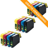 3 sets Epson T1285 inktcartridges (huismerk)