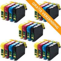 5 sets Epson T1285 inktcartridges (huismerk)