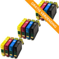 3 sets Epson T1816 / 18XL inktcartridges (huismerk)