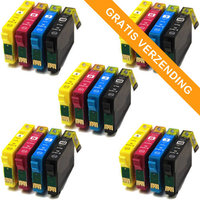5 sets Epson T1816 / 18XL inktcartridges (huismerk)