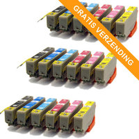 3 sets Epson T2438 / 24XL inktcartridges (huismerk)