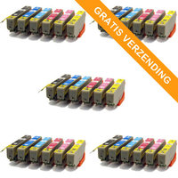 5 sets Epson T2438 / 24XL inktcartridges (huismerk)
