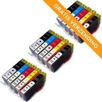3 sets HP 364XL set van VIJF inktcartridges (huismerk)