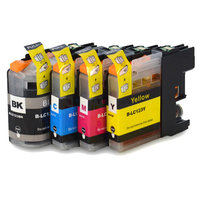 Brother LC-121 / LC-123 set inktcartridges (huismerk met chip)
