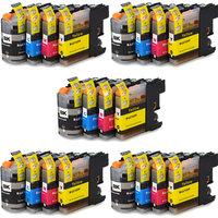 5 sets Brother LC-121 / LC-123 inktcartridges (huismerk met chip)