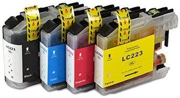 Brother LC-221 / LC-223 set inktcartridges (huismerk met chip)