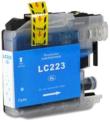 Brother LC-221C / LC-223C inktcartridge cyaan (huismerk met chip)