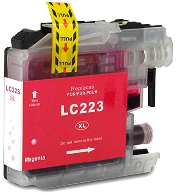 Brother LC-221M / LC-223M inktcartridge magenta (huismerk met chip)