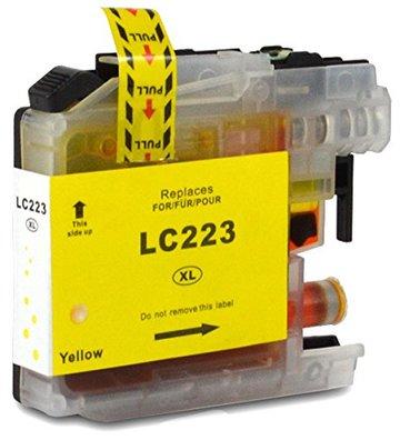 Brother LC-221Y / LC-223Y inktcartridge geel (huismerk met chip)