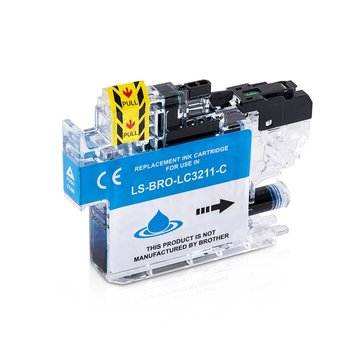 Brother LC-3211C inktcartridge cyaan (huismerk)