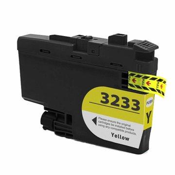 Brother LC-3233Y inktcartridge geel (huismerk)