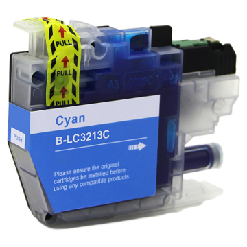 Brother LC-3213C inktcartridge cyaan (huismerk)